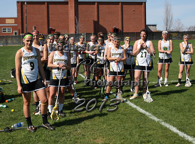 April 23, 2013;  Brockport, NY; USA; Brockport women's lacrosse vs. Fredonia at Brockport Field.  Christopher Cecere