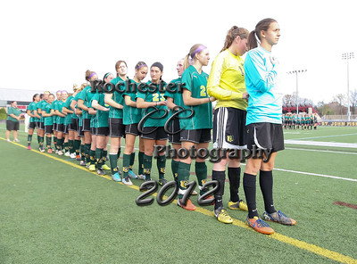 November 11, 2012;  Pittsford, NY; USA;  Women's Soccer ECAC Championship game between the Brockport Golden Eagles and the St. John Fisher Cardinals at Growney Stadium  Photo: Christopher Cecere
