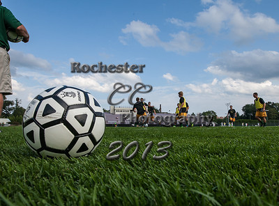 August 30, 2013;  Pittsford, NY; USA; Brockport Golden Eagles Men's Soccer vs. RIT Tigers at Golden Flyer Stadium @ Nazareth  Photo: Christopher Cecere