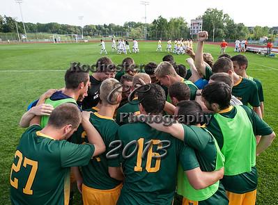 August 30, 2013;  Pittsford, NY; USA; Brockport Golden Eagles Men's Soccer vs. RIT Tigers at Golden Flyer Stadium @ Nazareth  Photo: Christopher Cecere