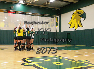 October 8, 2013;  Brockport, NY; USA; Brockport Golden Eagles Women's Volleyball vs. RIT Tigers at Jim and John Vlogianitis Gymnasium  Photo: Christopher Cecere
