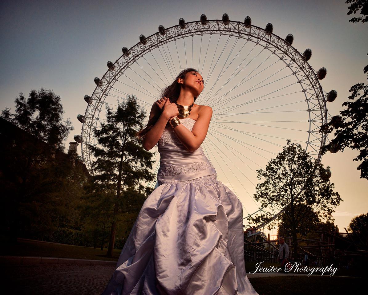 London Eye Bride