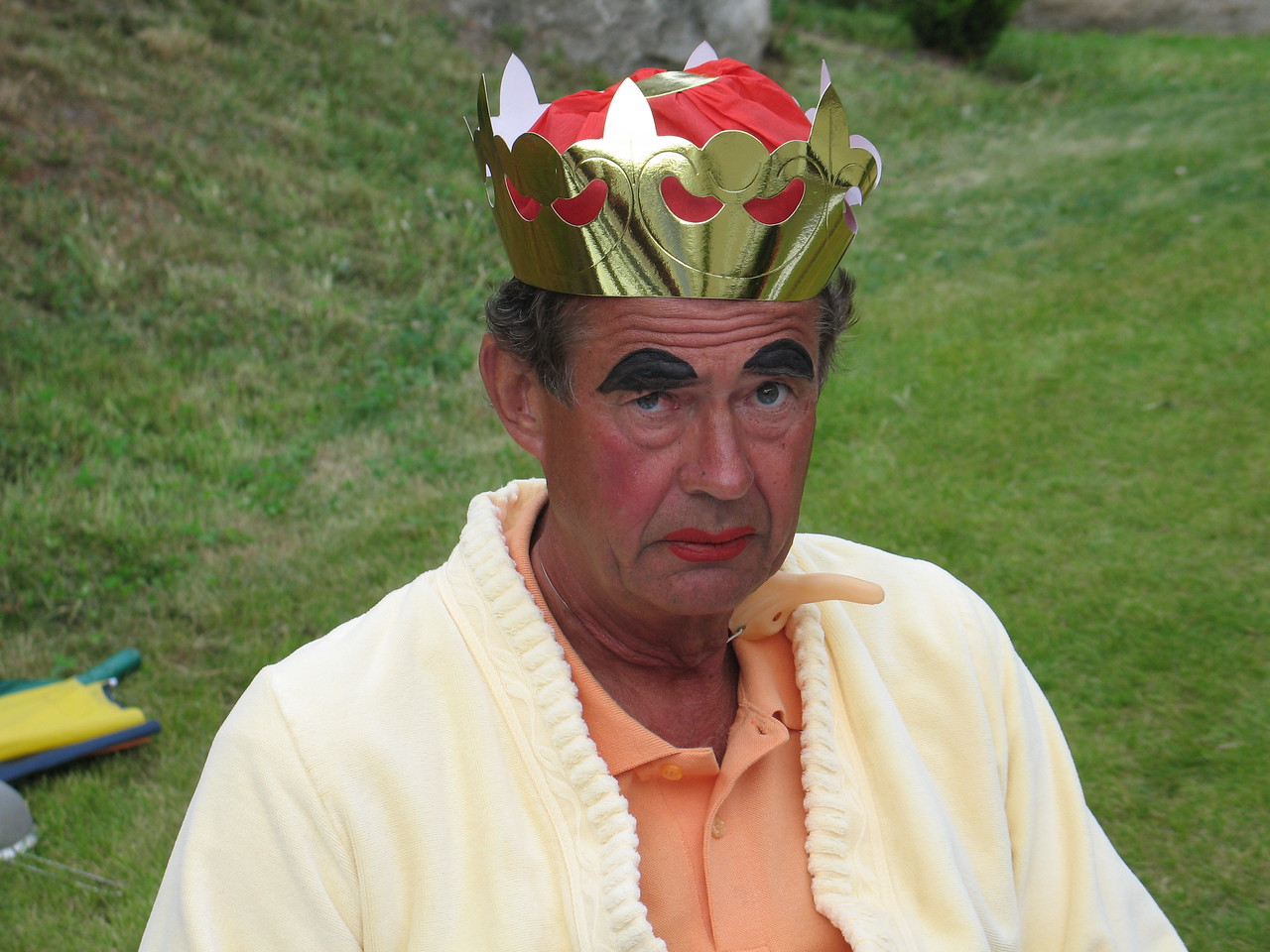 Erik som den slemme Dronningen i Snehvit og de syv dverger