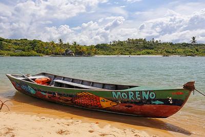 Moreno no Rio Caraiva