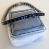 13.50ctw French Cut Sapphire Platinum Bracelet 2