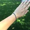 13.50ctw French Cut Sapphire Platinum Bracelet 20