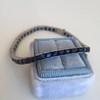 13.50ctw French Cut Sapphire Platinum Bracelet 12