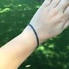 13.50ctw French Cut Sapphire Platinum Bracelet 18