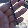 13.50ctw French Cut Sapphire Platinum Bracelet 17