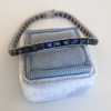 13.50ctw French Cut Sapphire Platinum Bracelet 0
