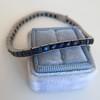 13.50ctw French Cut Sapphire Platinum Bracelet 11