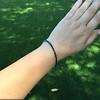 13.50ctw French Cut Sapphire Platinum Bracelet 21