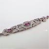 1.87ctw Diamond and Pink Sapphire Art Deco Inspired Bracelet 4