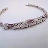1.87ctw Diamond and Pink Sapphire Art Deco Inspired Bracelet 7