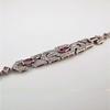 1.87ctw Diamond and Pink Sapphire Art Deco Inspired Bracelet 2