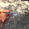 2.78ctw Victorian Cushion Cut Cluster Bangle, French 42