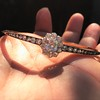 2.78ctw Victorian Cushion Cut Cluster Bangle, French 16