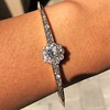 2.78ctw Victorian Cushion Cut Cluster Bangle, French 8