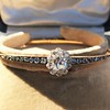 2.78ctw Victorian Cushion Cut Cluster Bangle, French 22