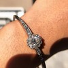 2.78ctw Victorian Cushion Cut Cluster Bangle, French 20