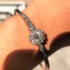 2.78ctw Victorian Cushion Cut Cluster Bangle, French 9