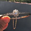 2.78ctw Victorian Cushion Cut Cluster Bangle, French 37