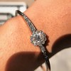 2.78ctw Victorian Cushion Cut Cluster Bangle, French 43