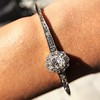 2.78ctw Victorian Cushion Cut Cluster Bangle, French 26