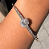 2.78ctw Victorian Cushion Cut Cluster Bangle, French 23