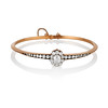 2.78ctw Victorian Cushion Cut Cluster Bangle, French 0