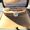 2.78ctw Victorian Cushion Cut Cluster Bangle, French 17