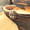 2.78ctw Victorian Cushion Cut Cluster Bangle, French 21