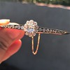2.78ctw Victorian Cushion Cut Cluster Bangle, French 12