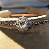 2.78ctw Victorian Cushion Cut Cluster Bangle, French 18