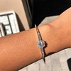 2.78ctw Victorian Cushion Cut Cluster Bangle, French 45
