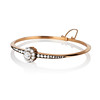 2.78ctw Victorian Cushion Cut Cluster Bangle, French 1