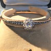 2.78ctw Victorian Cushion Cut Cluster Bangle, French 11