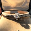 2.78ctw Victorian Cushion Cut Cluster Bangle, French 28