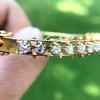 3.24ctw MidCentury Cushion Cut Diamond Bangle by Jack Gutschneider 6