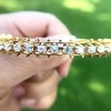 3.24ctw MidCentury Cushion Cut Diamond Bangle by Jack Gutschneider 4