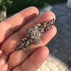 3.10ctw Georgian-era Leafy Pave Diamond Brooch 11