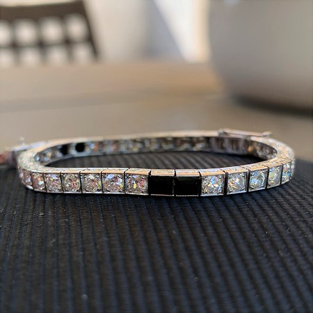 4.00ctw Art Deco Diamond Block Bracelet
