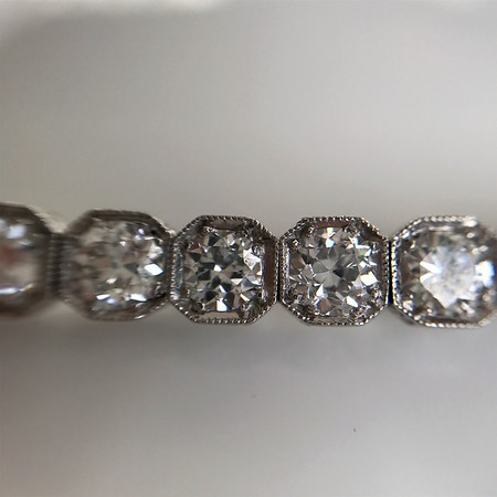 5.00ctw+ Art Deco Platinum Old European Cut Diamond Bracelet (PRESALE PRICE: $8500)