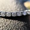 5.05ctw 18kt White Gold Tennis Bracelet 14