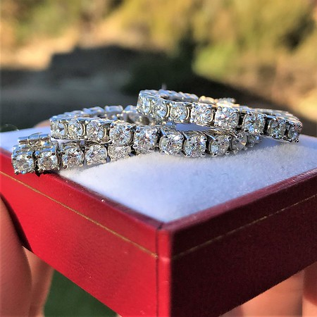 5.05ctw 18kt White Gold Tennis Bracelet