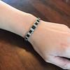 8.17ctw Art Deco Diamond and Sapphire Flexible Link Bracelet 9