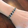 8.17ctw Art Deco Diamond and Sapphire Flexible Link Bracelet 0