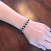 8.17ctw Art Deco Diamond and Sapphire Flexible Link Bracelet 6