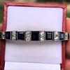 8.17ctw Art Deco Diamond and Sapphire Flexible Link Bracelet 17