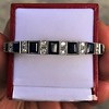 8.17ctw Art Deco Diamond and Sapphire Flexible Link Bracelet 18